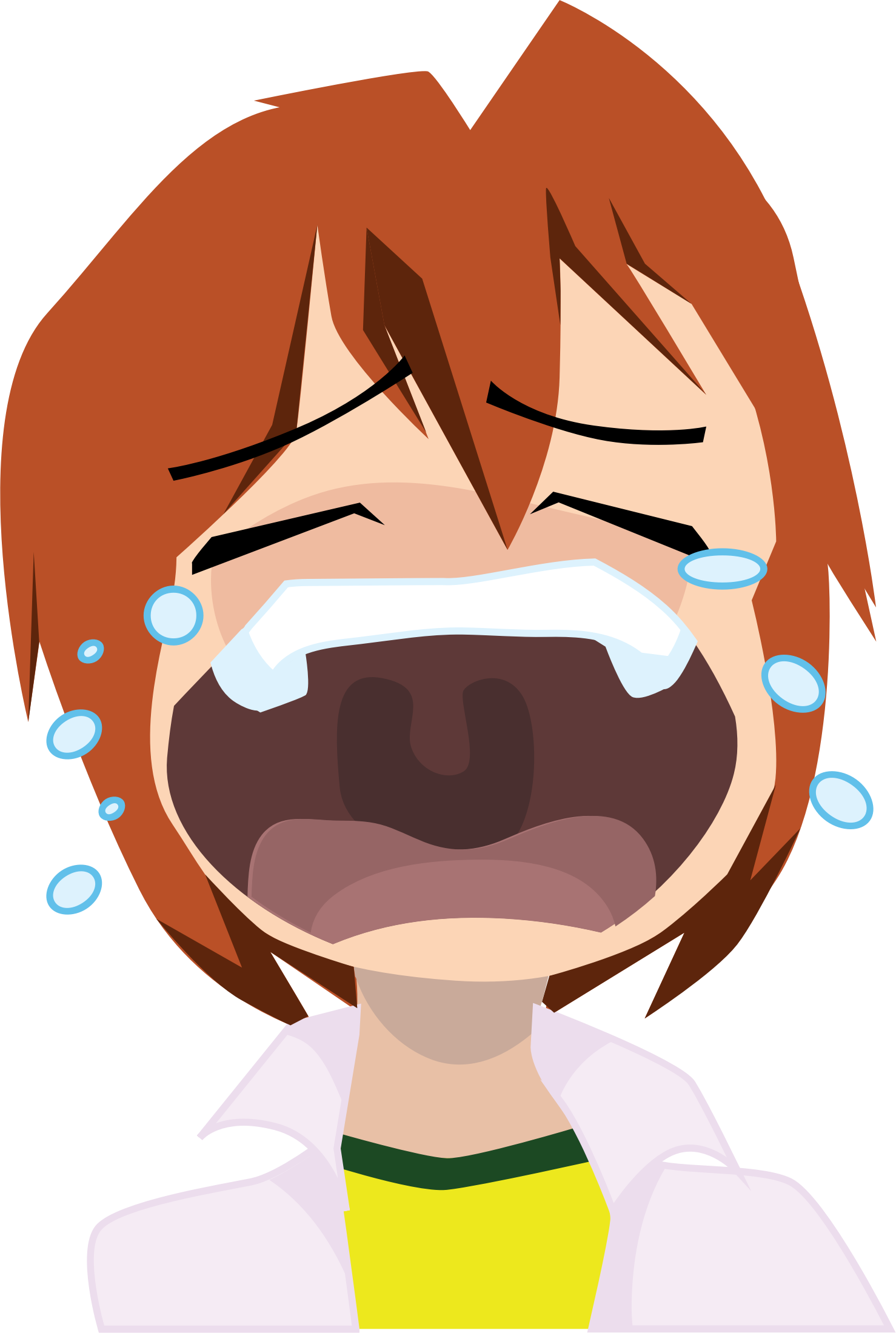 collection of crying. Cry clipart no cry