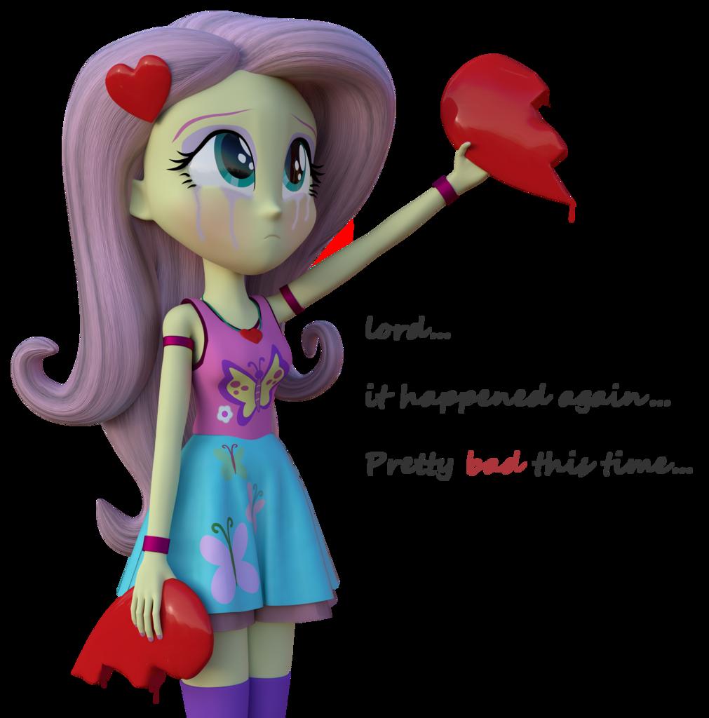 Cry clipart sad little girl.  d artist fluttershy