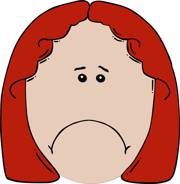 Clip art at clker. Crying clipart sad lady