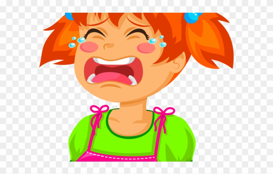 Tears crying girl clip. Cry clipart screaming