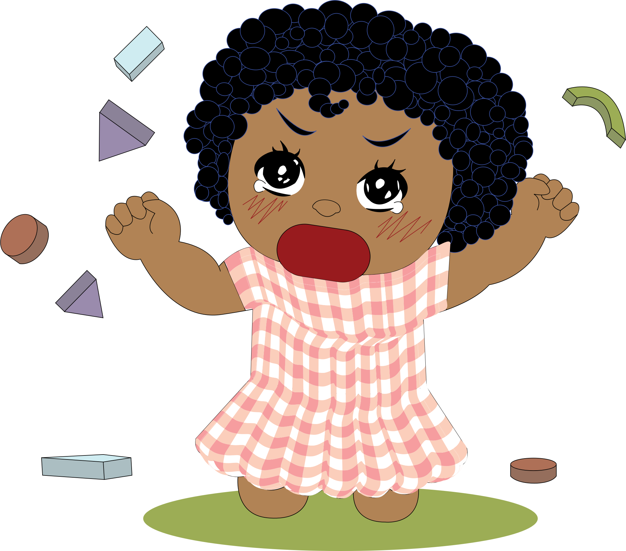 Little girl big image. Cry clipart tantrum