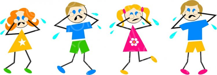 Crying clipart unhappiness, Crying unhappiness Transparent ...