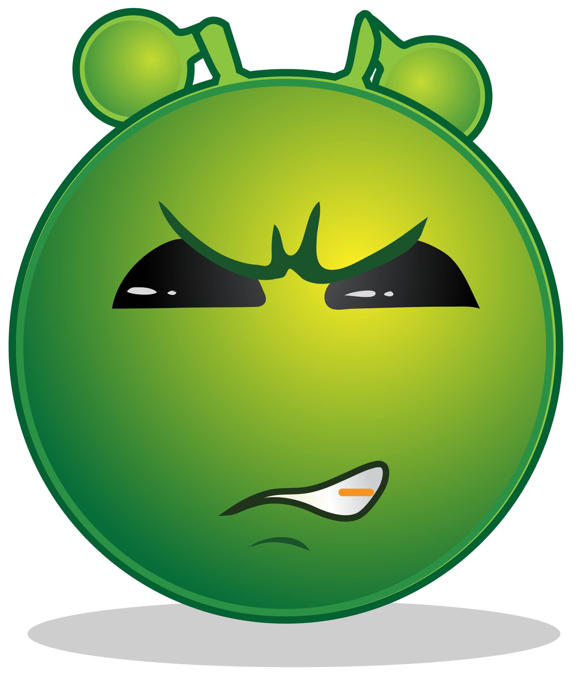 Wow clipart emoticon. File smiley green alien
