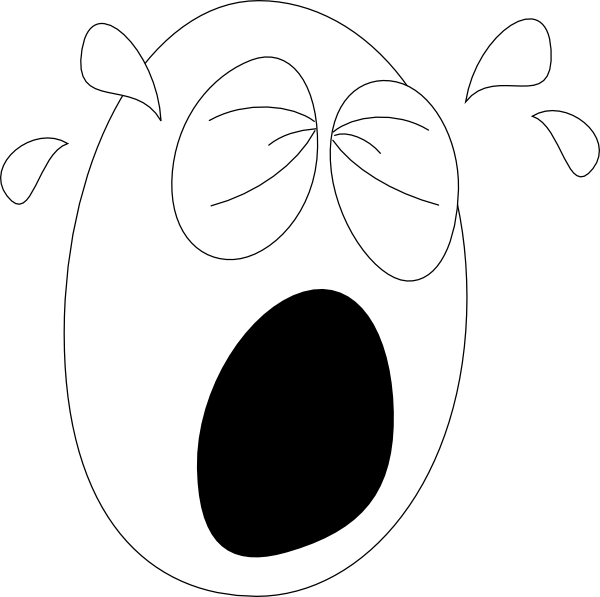 Cry clipart unhappy person. Panda free images cryclipart