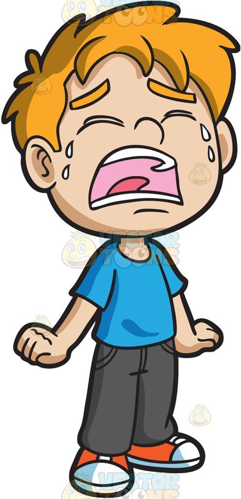 Cry clipart wept. A crying little boy