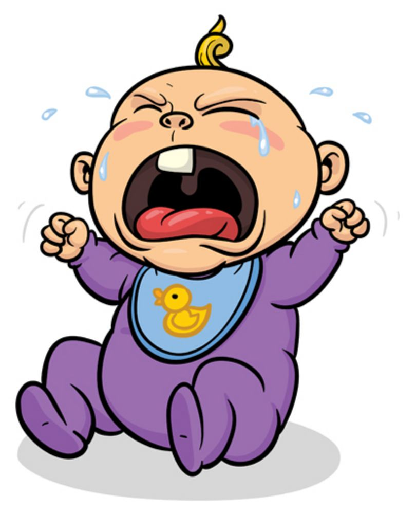 Cartoon picture of baby. Crying clipart