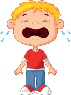 Young boy cartoon the. Crying clipart