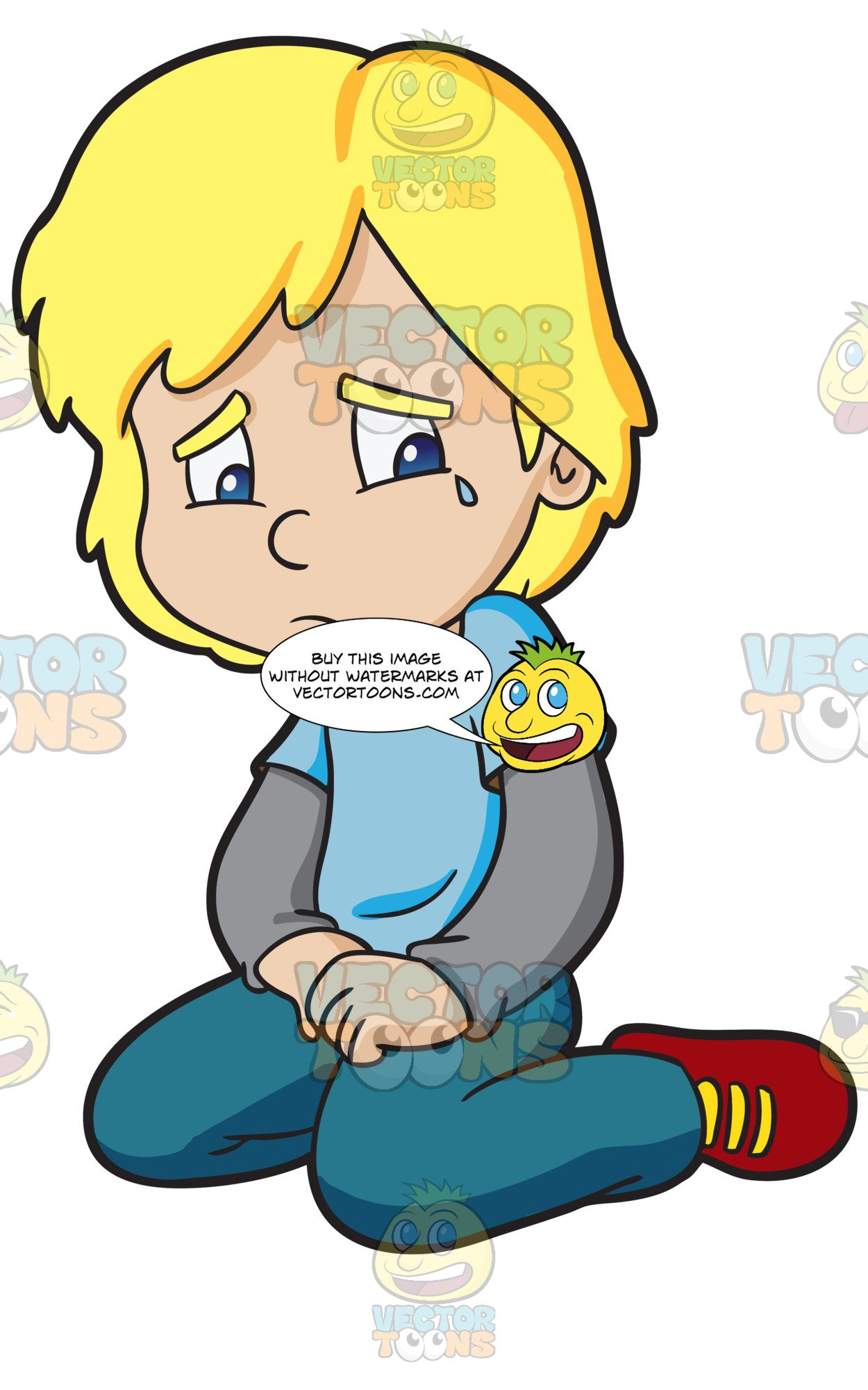 A boy cries in. Crying clipart cry kid