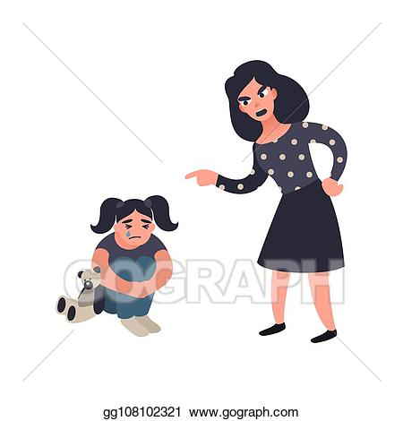 Eps vector punishing her. Mother clipart mather