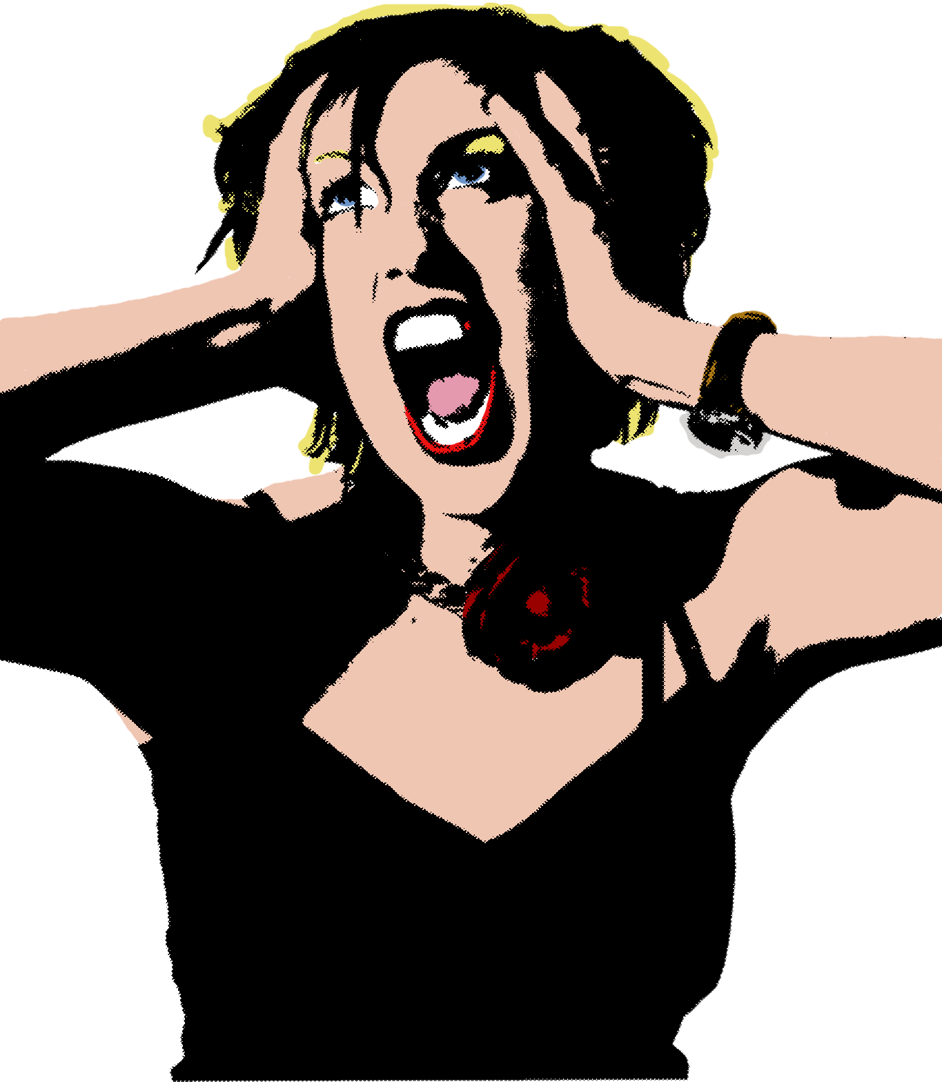 yelling clipart woman scream