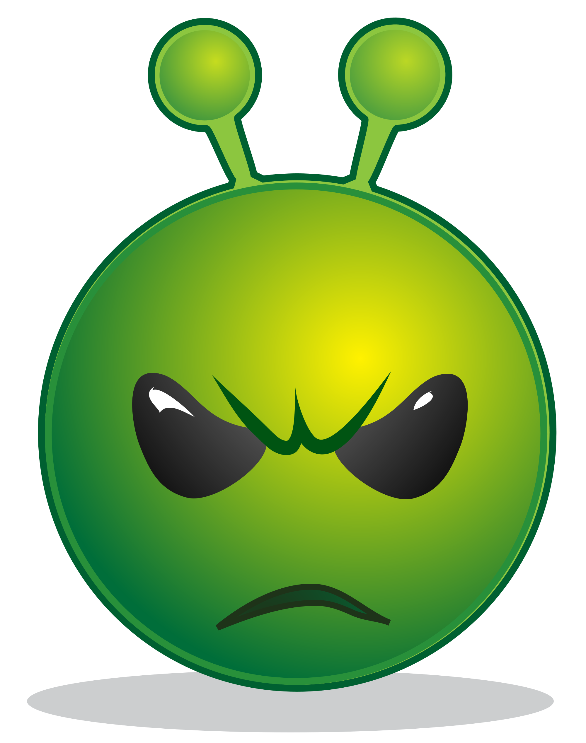File smiley green alien. France clipart emoji