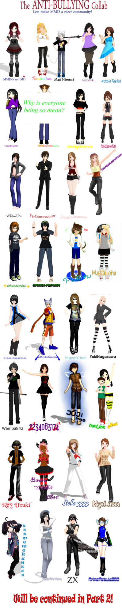 Anti collab by mmd. Crying clipart victim bullying