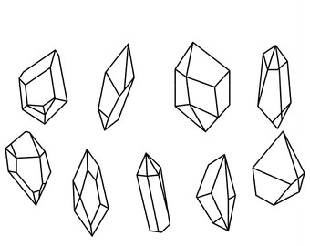 Etsy outlines clip art. Crystal clipart