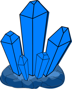 Crystal clipart. Blue clip art at
