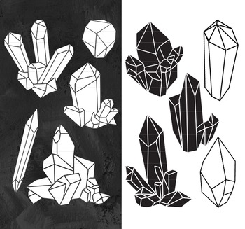 Crystal clipart. Raw clip art silhouettes