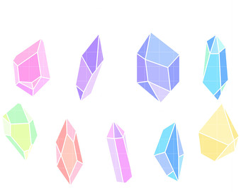 Etsy colors clip art. Crystal clipart