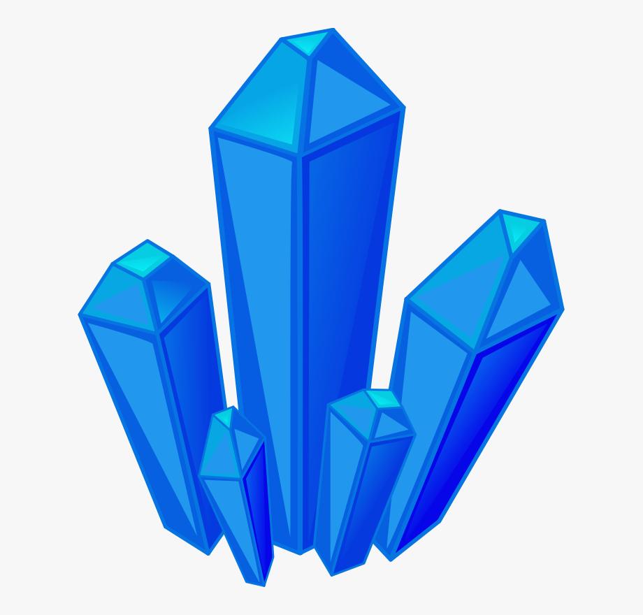 Berg crystal quartz blue. Gem clipart cool