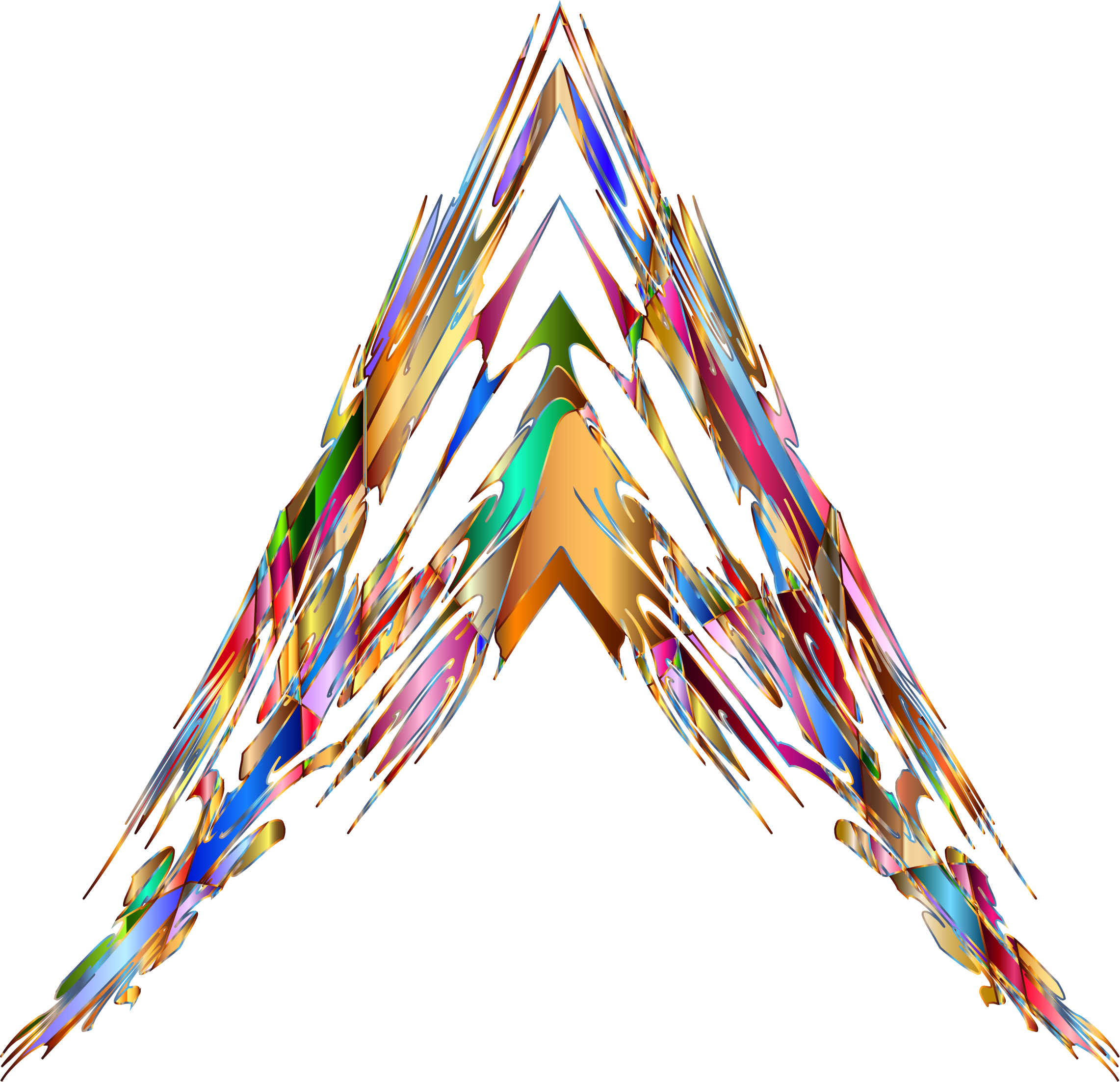 Prismatic arrowhead big image. Crystal clipart abstract art