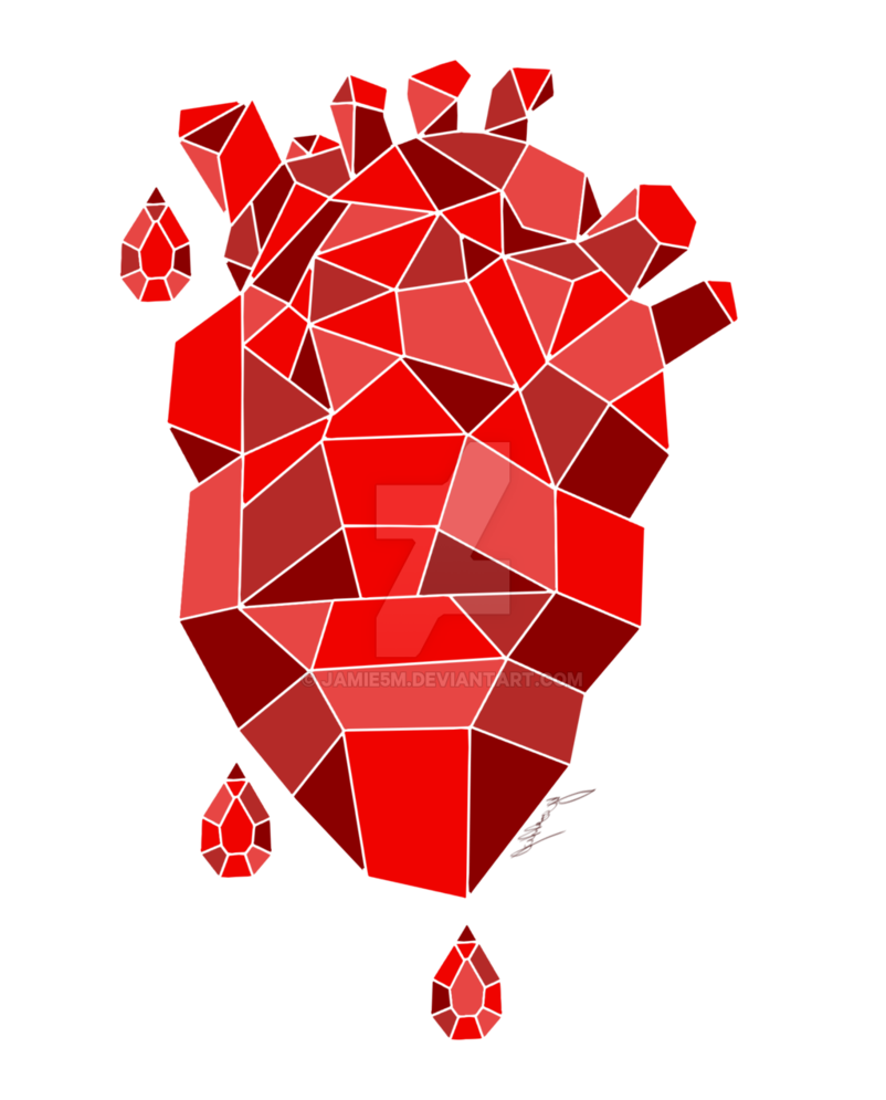 Hearts by jamie m. Crystal clipart abstract art