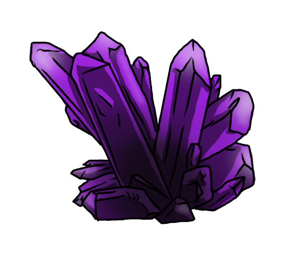 Crystal clipart amethyst crystal. Cluster by primalinstincts on