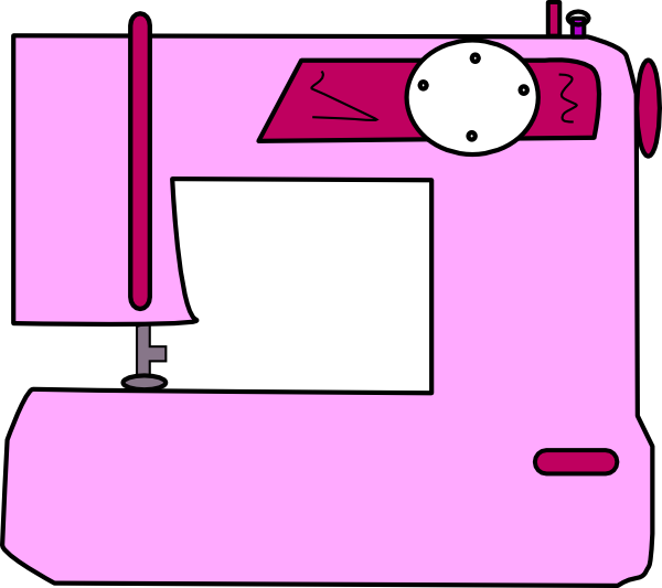 Crystal clipart animated. Sewing machine cartoon free