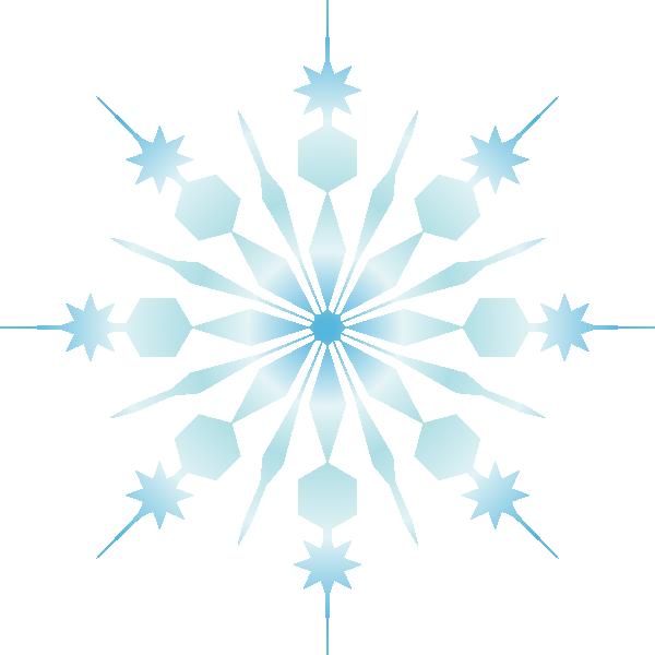 Crystal clipart black snowflake. Clip art at clker