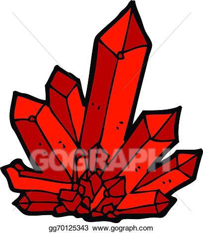 Vector art crystals drawing. Crystal clipart cartoon