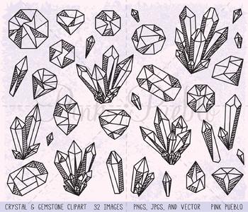 Doodle gemstone . Crystal clipart clip art
