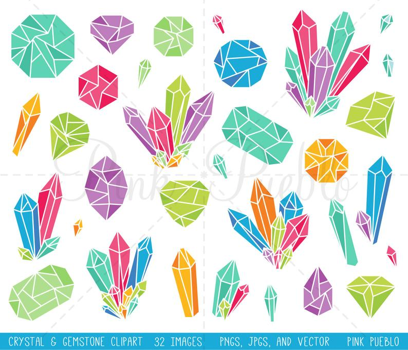 Bright gemstone gem commercial. Crystal clipart clip art