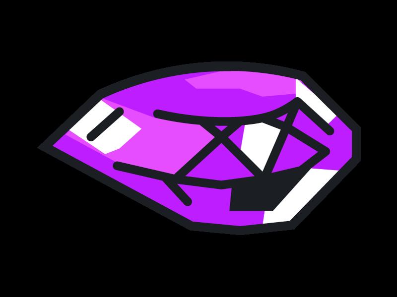 Purple bandipedia fandom powered. Gem clipart colorful gem