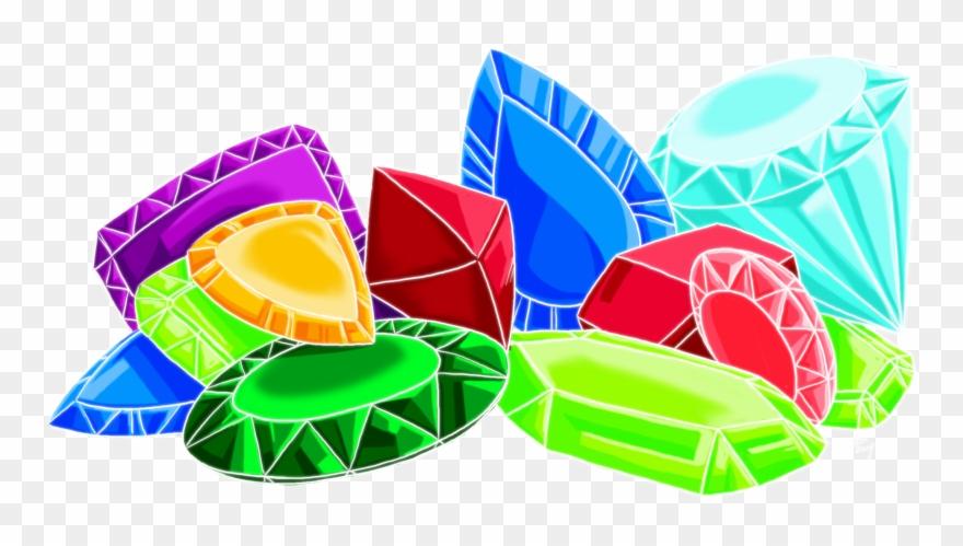 Gemstone pile of gems. Gem clipart colorful gem