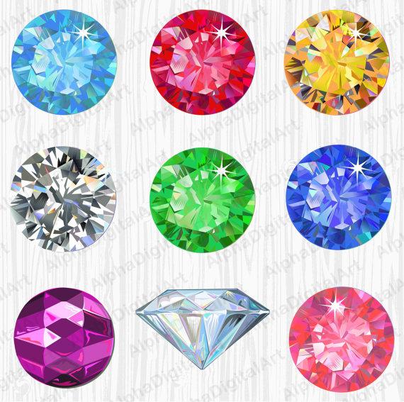 gems rings digital. Gem clipart colorful gem