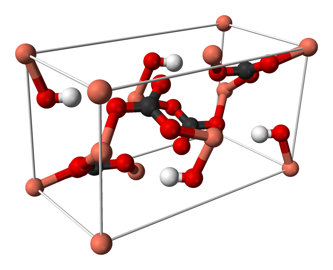 Crystal clipart crystal structure. File azurite unit cell