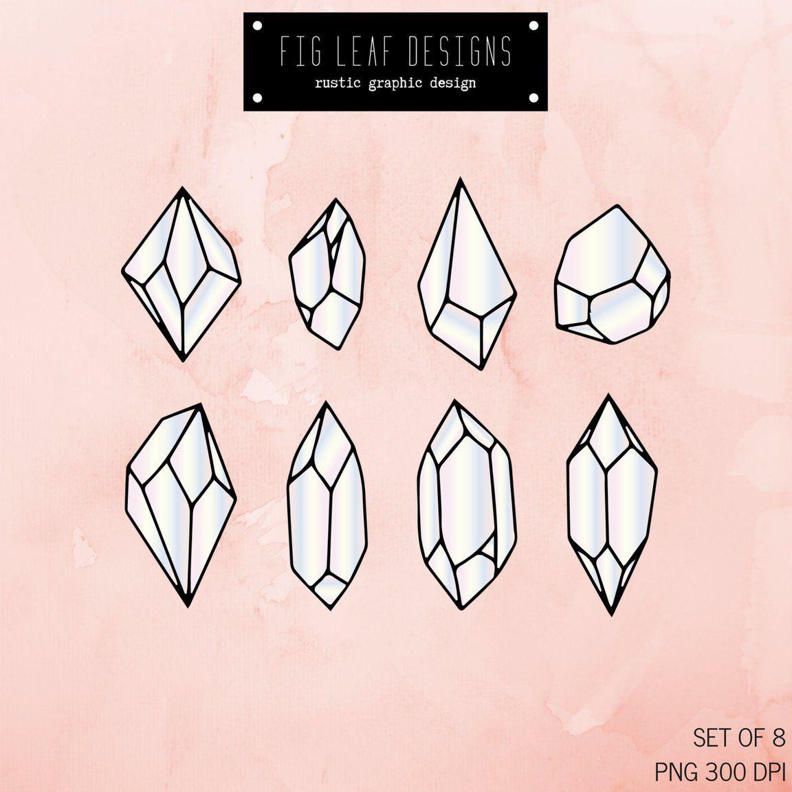 Diamonds clipart mineral. Crystal clip art gemstone