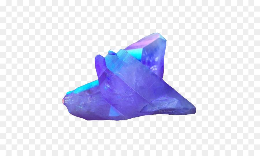 Quartz amethyst . Crystal clipart electric blue