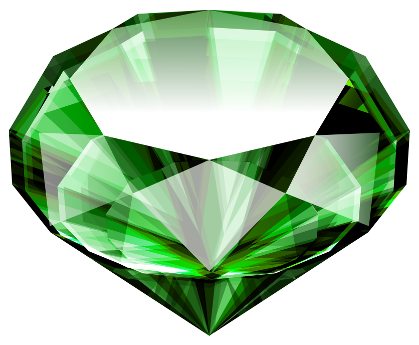 Large emerald png picture. Crystal clipart green crystal
