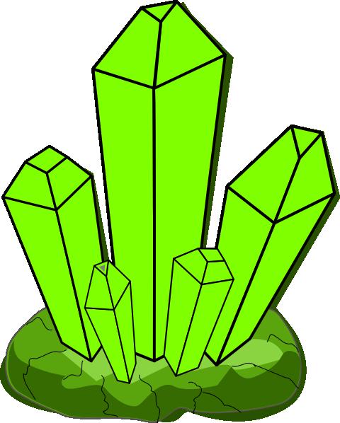 Clip art at clker. Crystal clipart green crystal