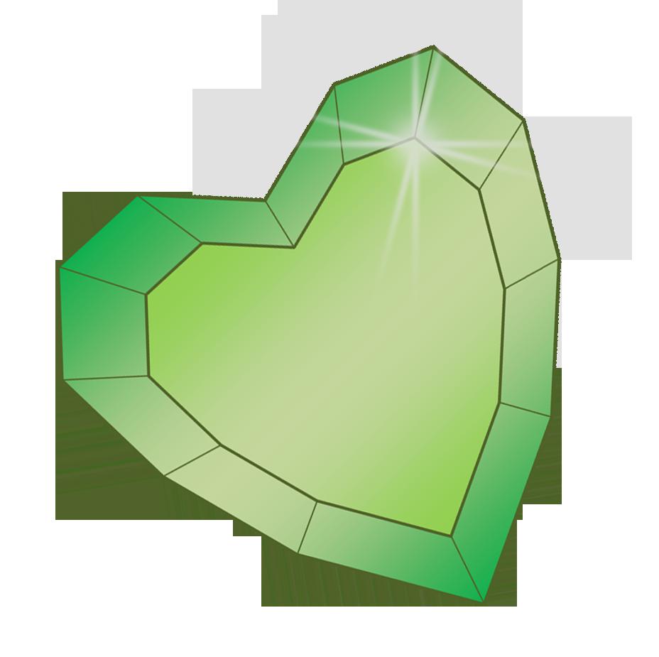 Crystal clipart heart. Emerald flicker s cutie