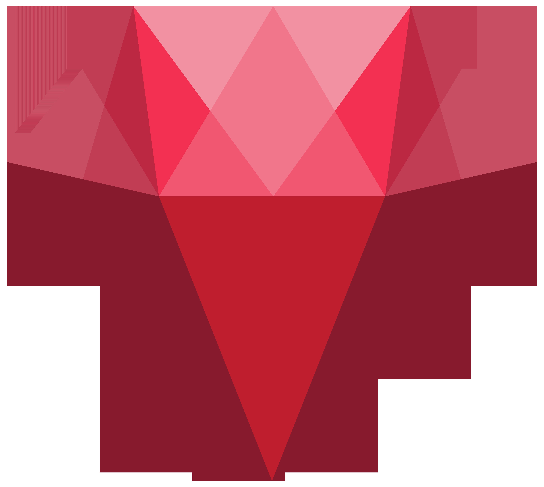 Red transparent png clip. Gem clipart crystal