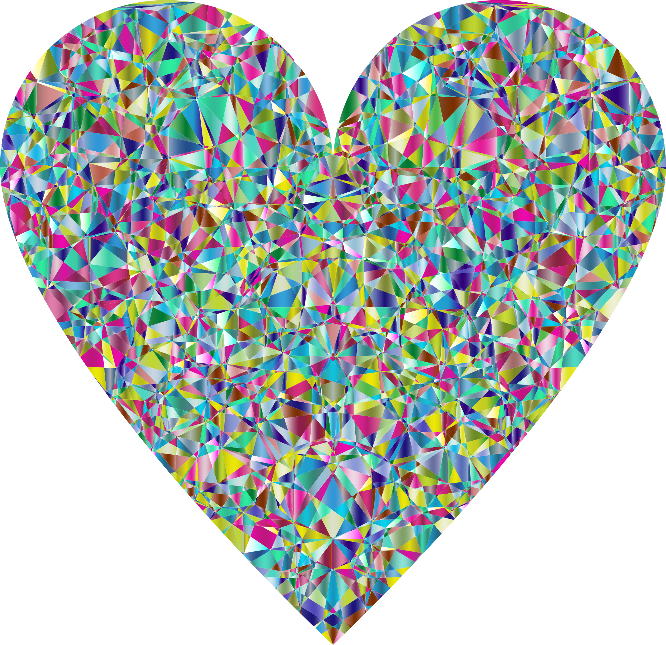 Chromatic big image png. Crystal clipart heart