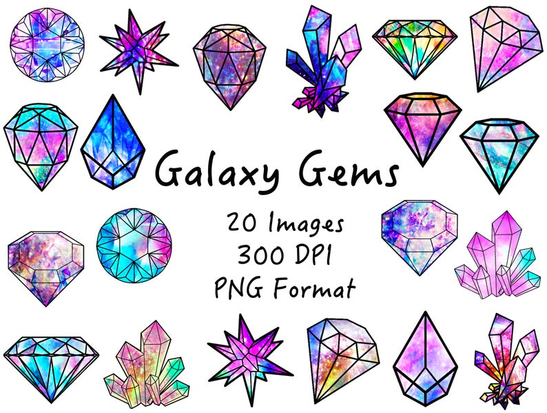 Galaxy gems png crystals. Crystal clipart jems
