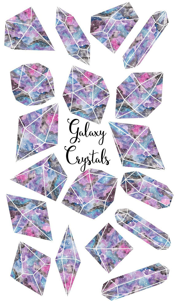 Crystals galaxy gemstone . Crystal clipart jems