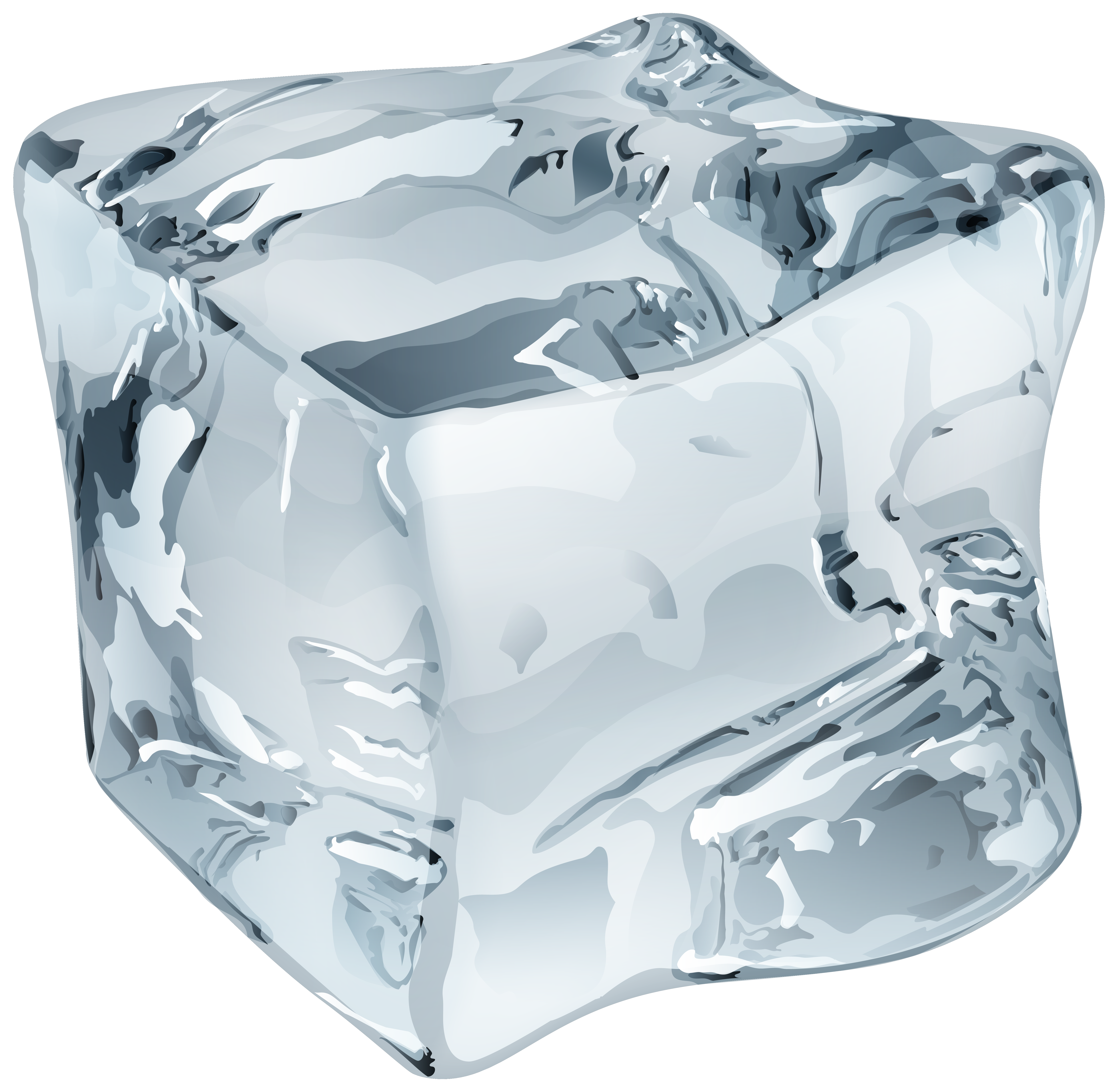 Ice cube png clip. Crystal clipart large