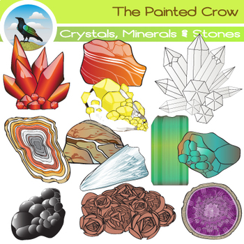 Rocks crystals minerals stones. Crystal clipart mineral resource