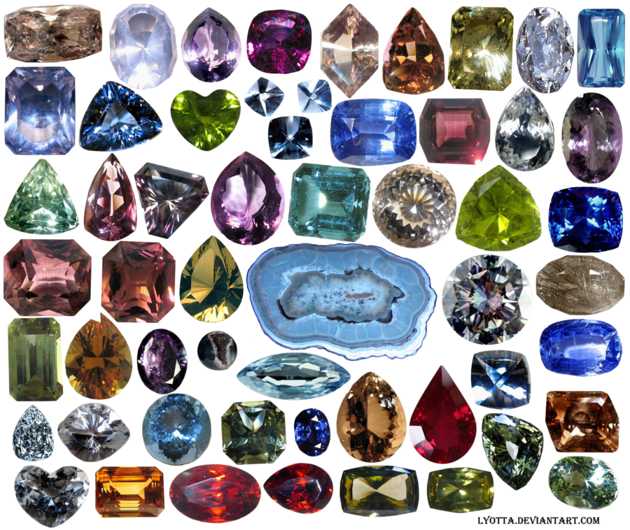Precious stones by lyotta. Crystal clipart mineral resource
