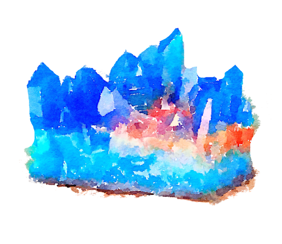 Crystal clipart mineral resource. Free blue watercolor png