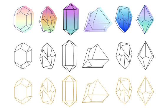Crystals clip art vector. Crystal clipart mineral resource