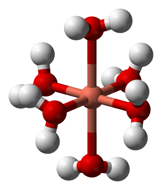 Metal ions in aqueous. Crystal clipart octahedral