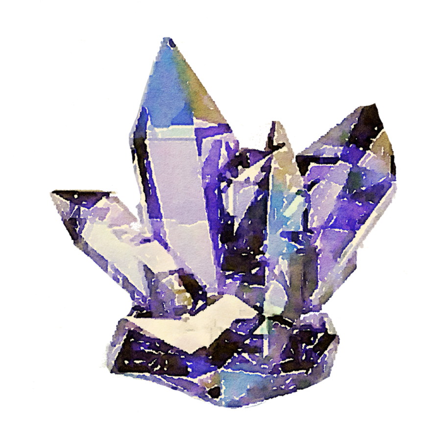 Free cyrstals watercolor png. Crystal clipart real crystal