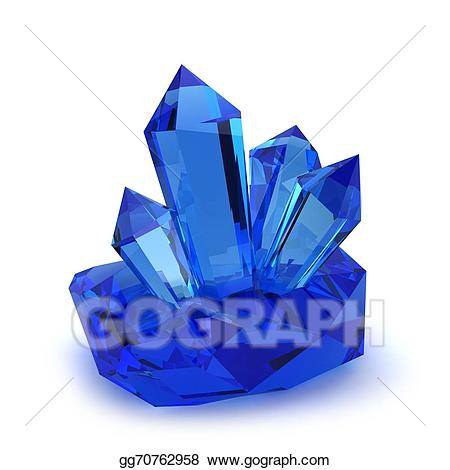 Stock illustration stones drawing. Crystal clipart real crystal